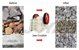 Which materials can be selected for the jaw plate of the jaw crusher?