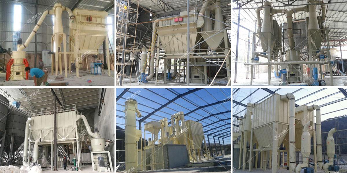 Calcium carbonate grinding plant