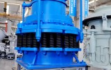 The internal composition of the spring cone crusher (a)